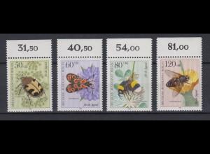 Berlin 712-715 mit Oberrand Bestäuberinsekten kompletterSatz postfrisch