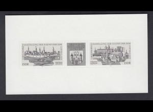 DDR Schwarzdruck 2343-2344 s Briefmarkenausstellung der Jugend Cottbus 1978