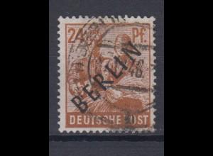 Berlin 9 Schwarzaufdruck 24 Pf gestempelt /2