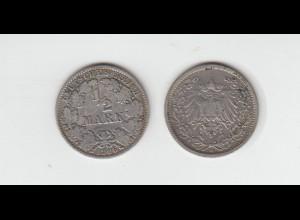 Silbermünze Kaiserreich 1/2 Mark 1906 A Jäger Nr. 16 /62