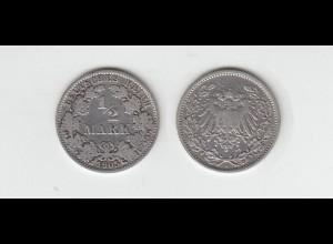 Silbermünze Kaiserreich 1/2 Mark 1905 A Jäger Nr. 16 /61