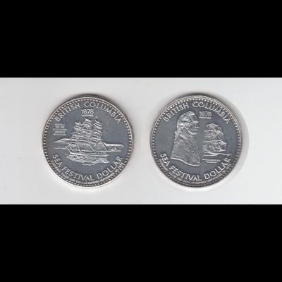 Medaille Britisch Columbien Sea Festival Dollar 1978 /M22