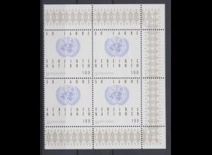 Bund 1804 I 4er Block mit Plattenfehler 50 Jahre Vereinte Nation 100 Pf **