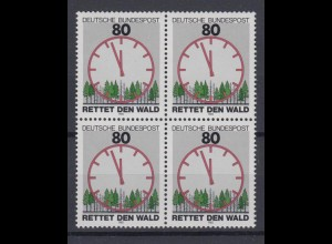 Bund 1253 4er Block Rettet den Wald 80 Pf postfrisch