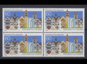 Bund 1271 4er Block 1250 Jahre Bad Hersfeld 60 Pf postfrisch