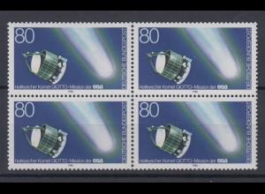 Bund 1273 4er Block Halleyscher Komet 80 Pf postfrisch