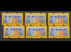 Bund ATM Versandstellensatz VS1 Typ 3.2 postfrisch