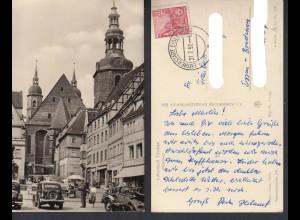 Ansichtskarte Lutherstadt Eisleben Markplatz 1957