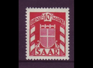 Saarland D 33 Dienstmarke 10 C postfrisch
