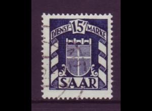 Saarland D 40 Dienstmarke 15 Fr gestempelt (1)