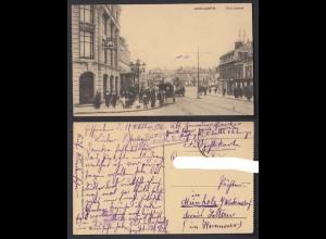 Ansichtskarte Saint Quentin d`Isle Strasse Stempel S.B. 6. Kompanie 1. Gd.-Regt.