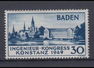 All. Besetzung Franz. Zone Baden 46 I Plf. Ingenieur Kongress Konstanz 30 Pf **