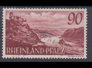 All. Besetz. Franz. Zone Rheinland Pfalz 41 Burg Gutenfels 90 Pf gestempelt /1