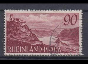 All. Besetz. Franz. Zone Rheinland Pfalz 41 Burg Gutenfels 90 Pf gestempelt /3