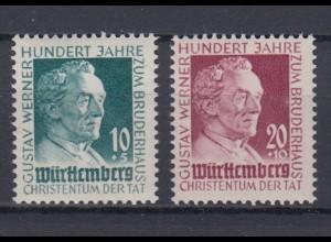All. Besetz. Franz. Zone Württemberg 47-48 Gustav Werner Stiftung kompl. Satz **