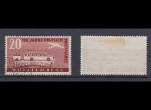 All. Besetz. Franz. Zone Württemberg 50 100 J. dt. Briefmarken 20 Pf geprüft