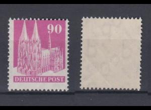 All. Besetzung Am.+ Britische Zone 96 eg Kölner Dom 90 Pf postfrisch /2