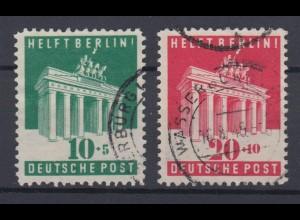 All. Besetzung Am.+ Britische Zone 101-102 Berlin Hilfe gestempelt /2