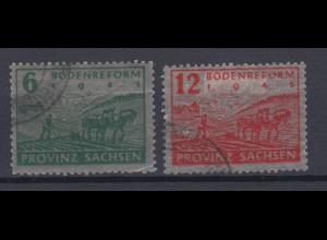 All. Besetzung Sowjetische Zone Provinz Sachsen 90-91 Bodenreform gestempelt