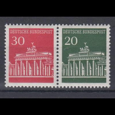 Bund 508,507 Zusammendruck W 25 Brandenburger Tor postfrisch
