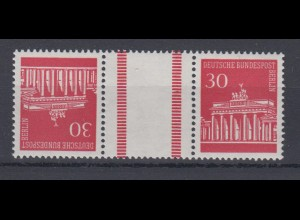 Berlin 288/288 Zusammendruck KZ 3a Brandenburger Tor 30 Pf postfrisch