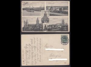 Ansichtskarte Mainz Mehrbildkarte 1913