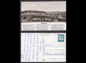 Ansichtskarte Höxter an der Weser Gesamtansicht mit Weserlied