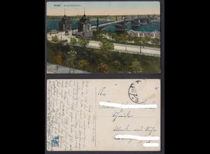 Ansichtskarte Mainz Strassenbahnbrücke 1915