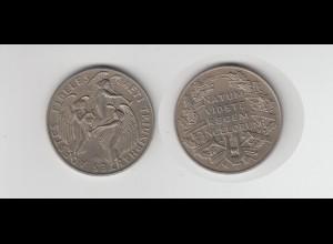 Medaille Adestes Fideles Weihnachtslied, Natum Videte Regem Angelorum /M31