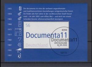 Bund Block 58 11. documenta Kassel 56 C Ersttagsstempel Bonn