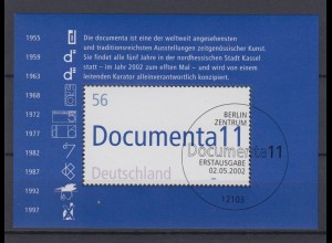 Bund Block 58 11. documenta Kassel 56 C Ersttagsstempel Berlin