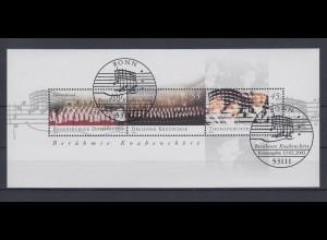 Bund Block 61 Berühmte Knabenchöre 45 C, 55 C, 100 C Ersttagsstempel Bonn