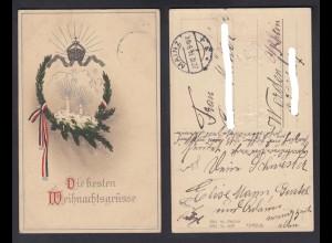 Ansichtskarte Die besten Weihnachtsgrüsse gestempelt Mainz 1914