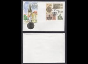 Numisbrief DDR 5 Mark Nikolai Viertel Berlin 750 Jahre Berlin 1987