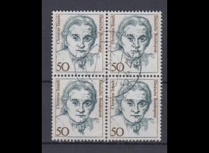 Bund 1304 4er Block Frauen der deutschen Geschichte (I) 50 Pf gestempelt