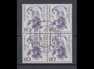 Bund 1332 4er Block Frauen der dt. Geschichte (II) 60 Pf gestempelt