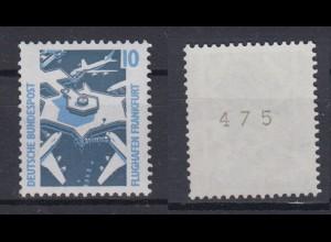 Bund 1347 A u RM mit ungerader Nummer SWK 10 Pf gelbe Gummierung postfrisch