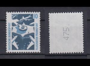 Bund 1347 A v RM mit senkrechter ungerader neuer Nummer SWK 10 Pf postfrisch