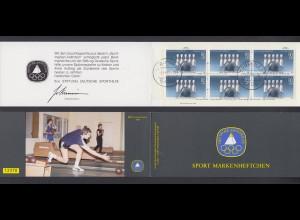Bund Sport Markenheftchen 6x 1238 80+ 40 Pf 1985 gestempelt Koblenz