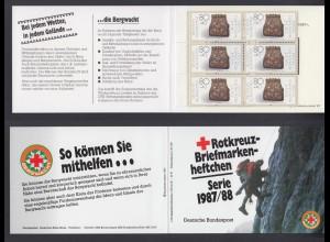 Bund Rotes Kreuz Wohlfahrt Markenheftchen 5x 1336 80+ 40 Pf 1987/88 postfrisch