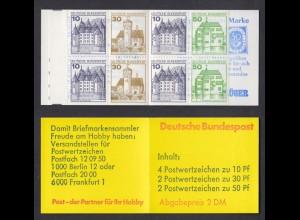 Bund Markenheftchen 22 I f RZ 4 Burgen + Schlösser 1980 postfrisch