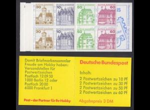 Bund Markenheftchen 23b RZ 1 Burgen + Schlösser 1982 postfrisch