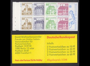 Bund Markenheftchen 23b RZ 4 Burgen + Schlösser 1982 postfrisch