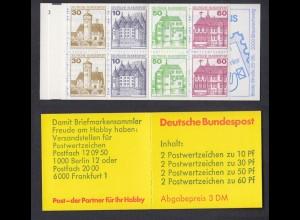 Bund Markenheftchen 23b RZ 1 Burgen + Schlösser 1982 mit Plf. I, II, III **