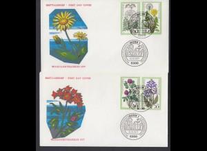 Bund 2 FDC`s mit 949-952 Wohlfahrt Wiesenblumen mit ESST Bonn 13.10.1977