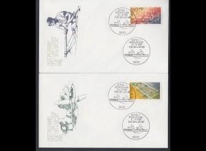 Bund 2 FDC`s mit 1094-1095 Sporthilfe mit ESST Bonn 10.04.1981