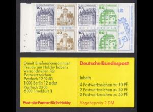 Bund Markenheftchen 22 I i RZ 4 Burgen + Schlösser 1980 postfrisch