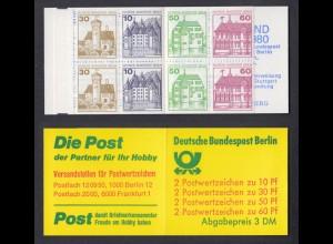 Berlin Markenheftchen 12b Burgen und Schlösser 1980 postfrisch