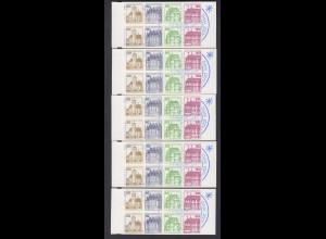 Berlin Markenheftchen 12ca I Burgen und Schlösser 1980 5x postfrisch