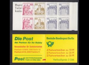 Berlin Markenheftchen 10a II ZB Burgen und Schlösser 1977 postfrisch